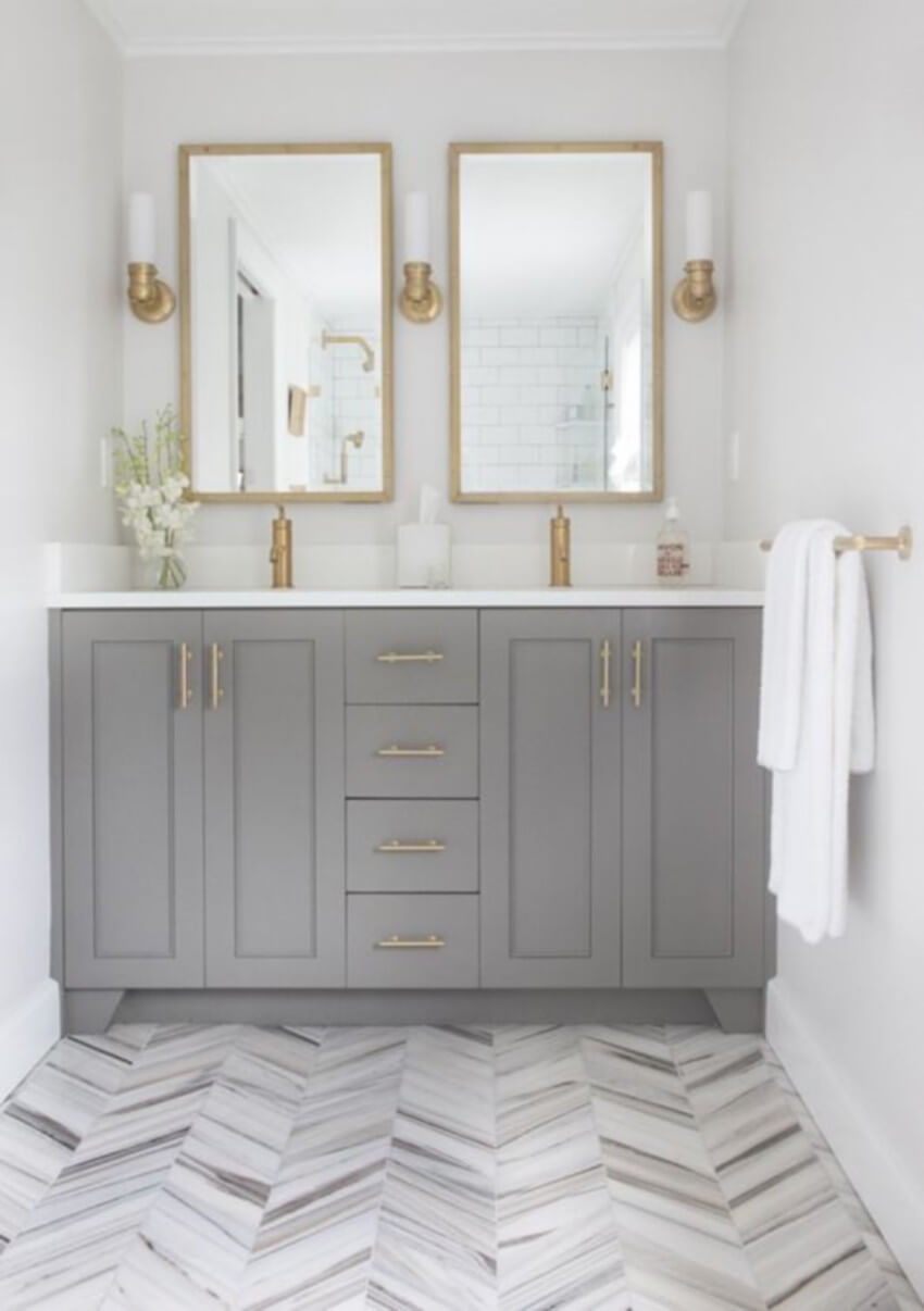 Make your bathroom gorgeous with a different color.