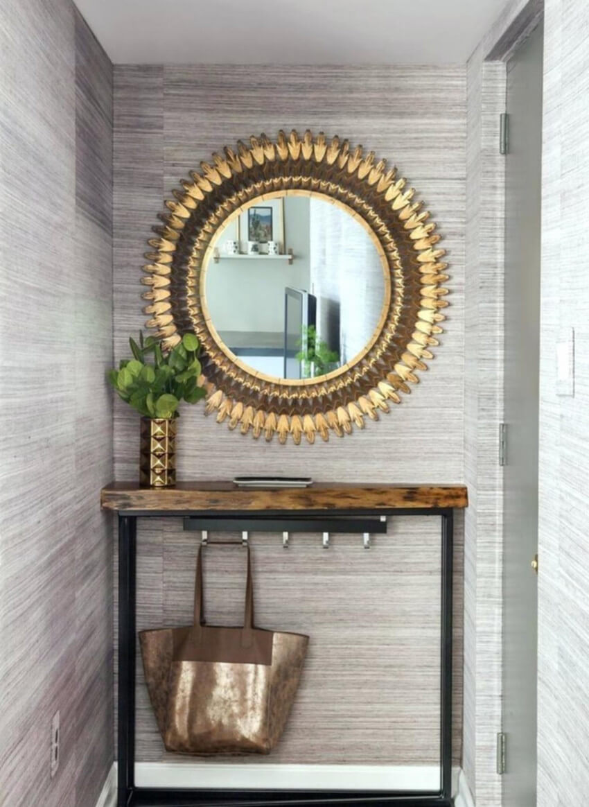 Go bold with the frame of your new mirror.