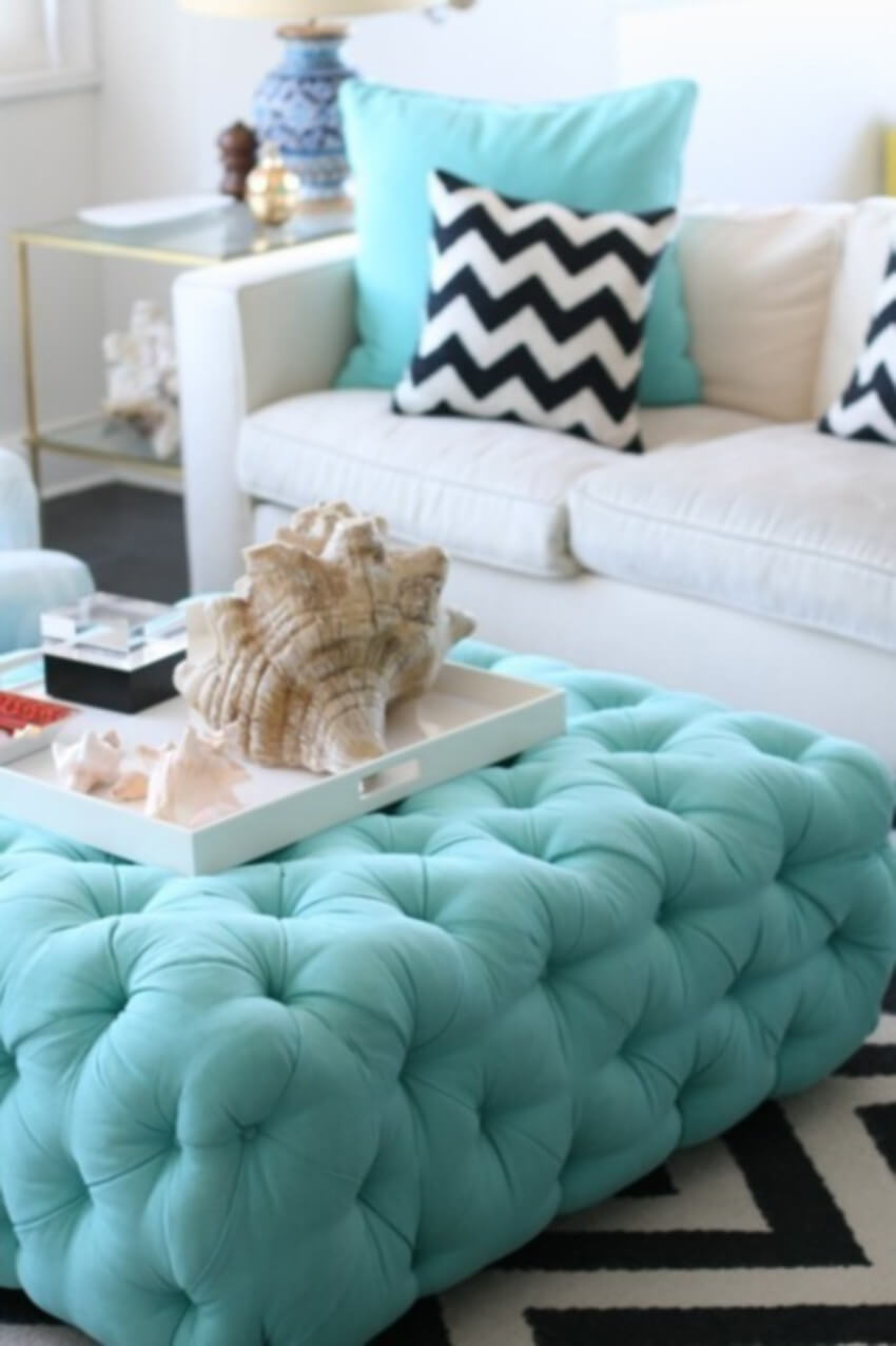 Comfy and gorgeous - that's the combo an ottoman brings.