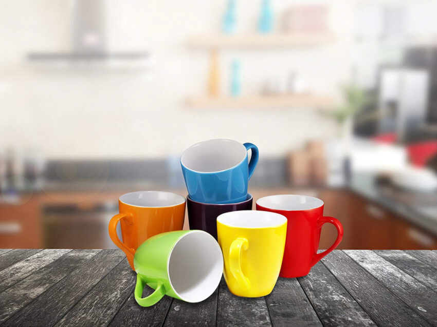 Get these colorful mugs at Amazon.