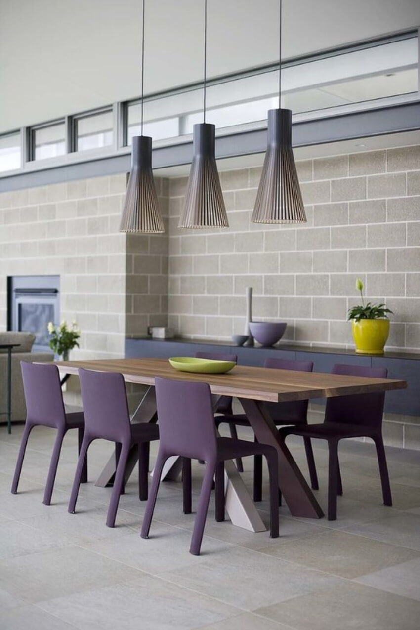 Chairs are a simple way to change the energy in your dining room!
