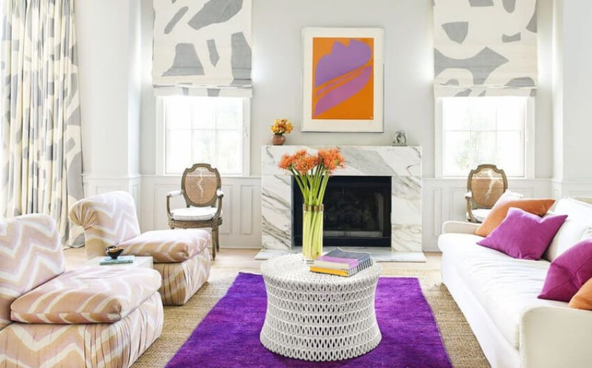Huge rugs can make a difference without the need of changing the whole room decor!