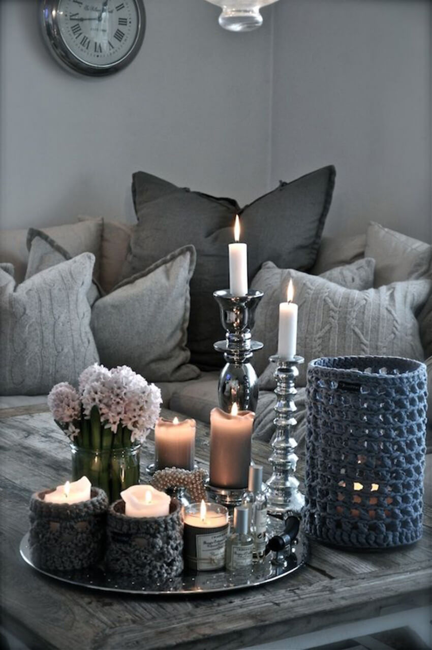 Candles will instantly make the house cozier!
