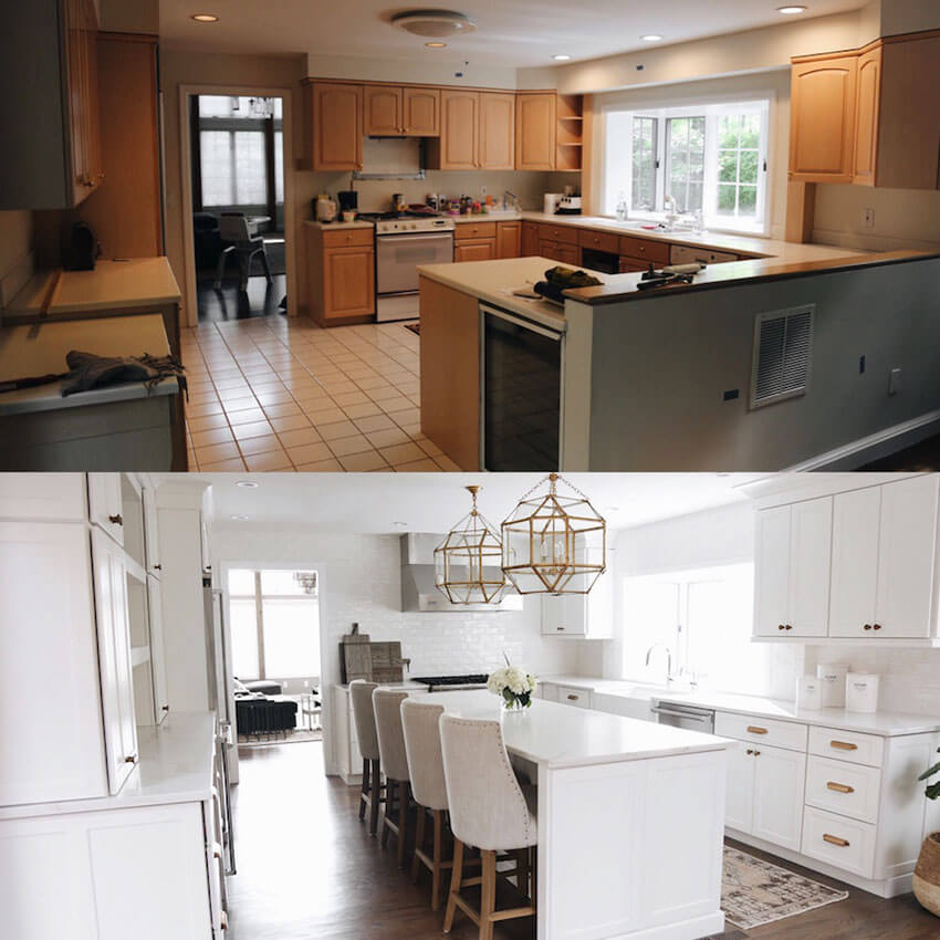 White brings sophistication when renovating a kitchen.
