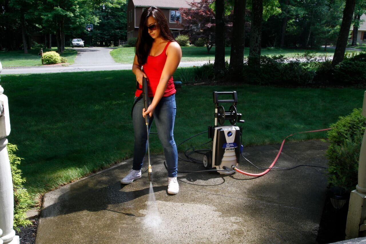 Power washing is the best way to clean off surfaces