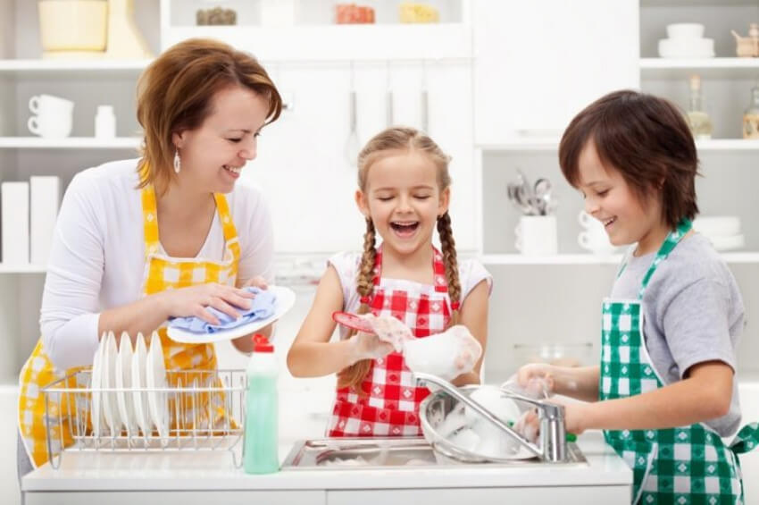 If you like doing your chores, the kids will like theirs.