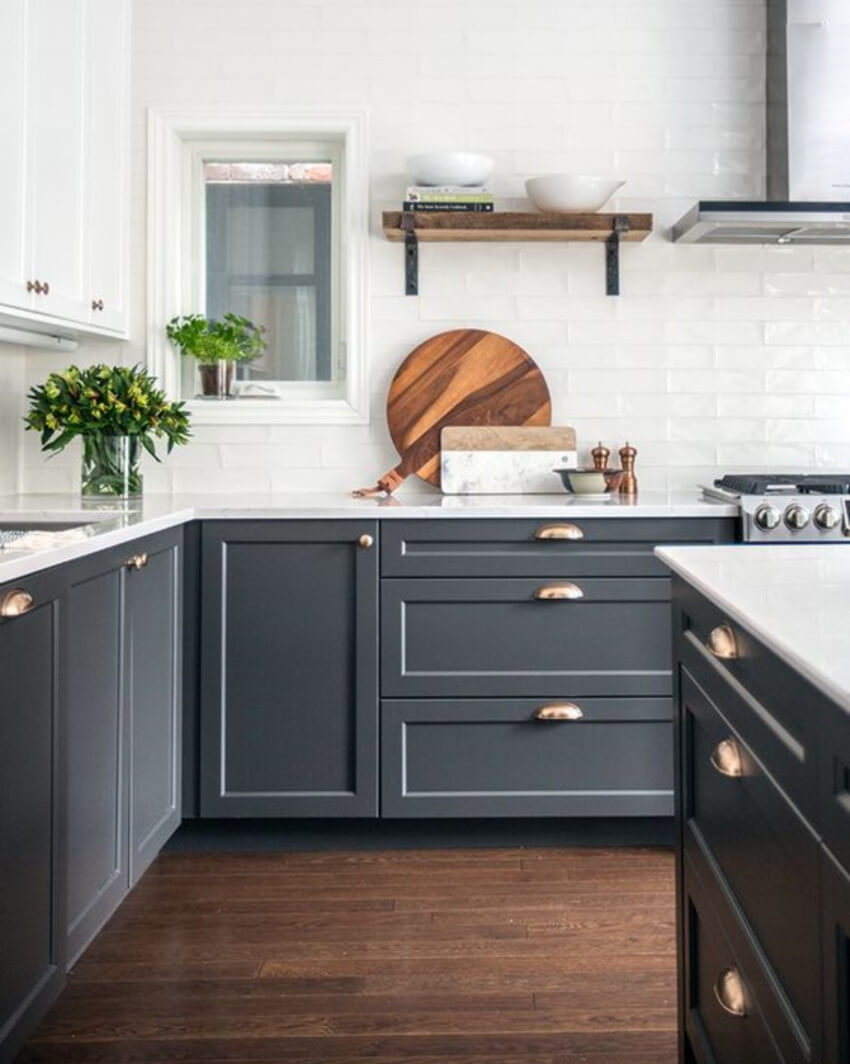 Cabinets can be trendy and cheap too.
