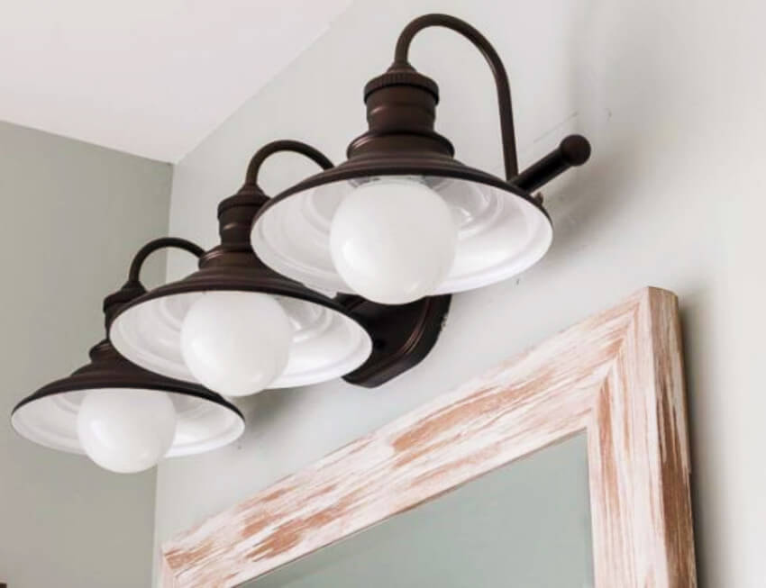 Light fixtures can be gorgeous while also being simple.