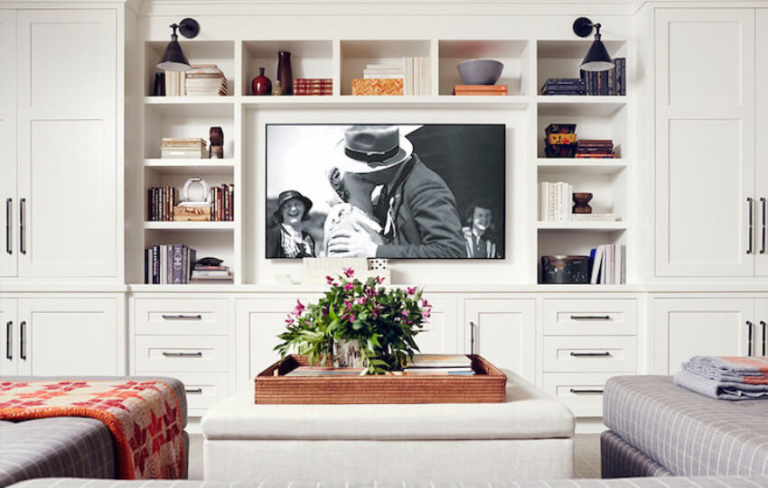 A media room is perfect for family and friends gathering.