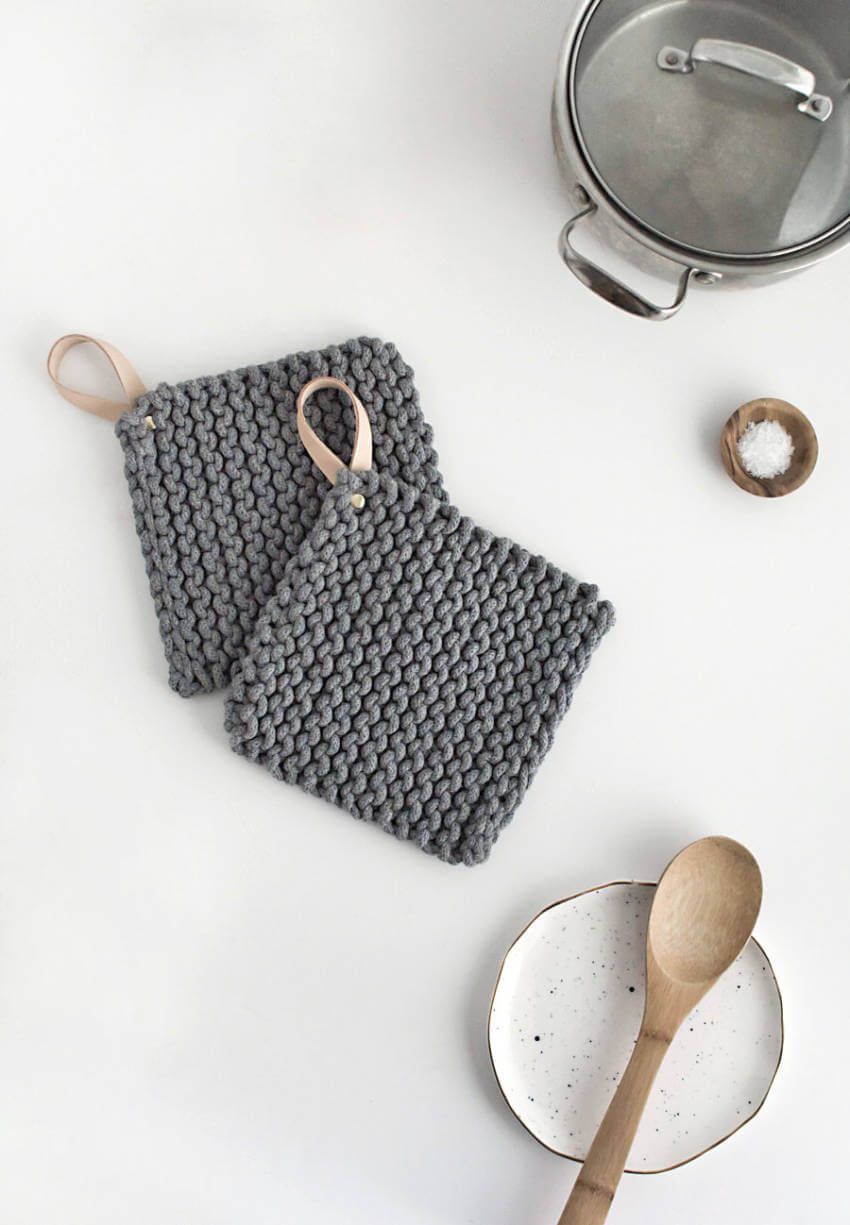 Potholders are easy to make and super practical.