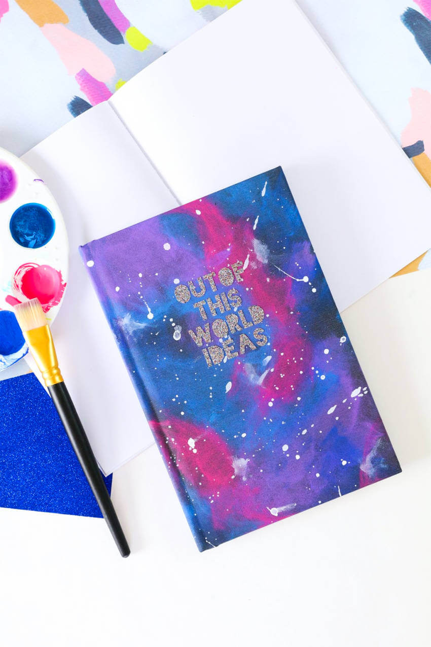 The galaxy print makes it a special notebook.