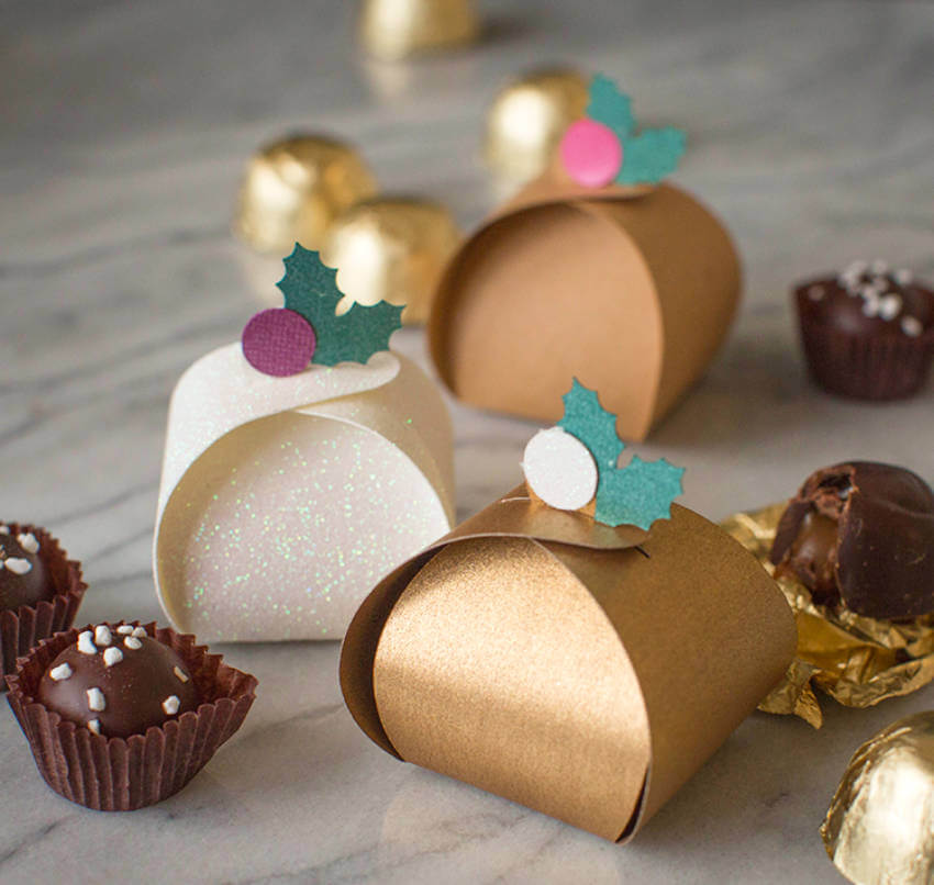 Treat boxes to put your homemade candies inside.