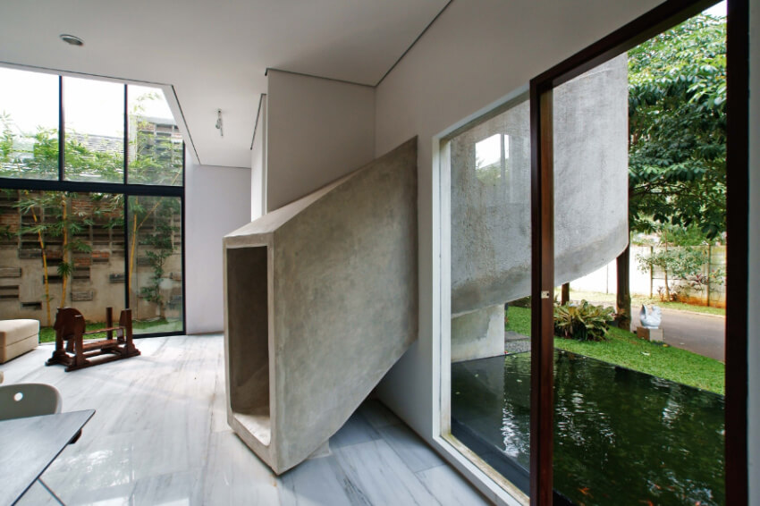 A concrete slide can add fun to any home