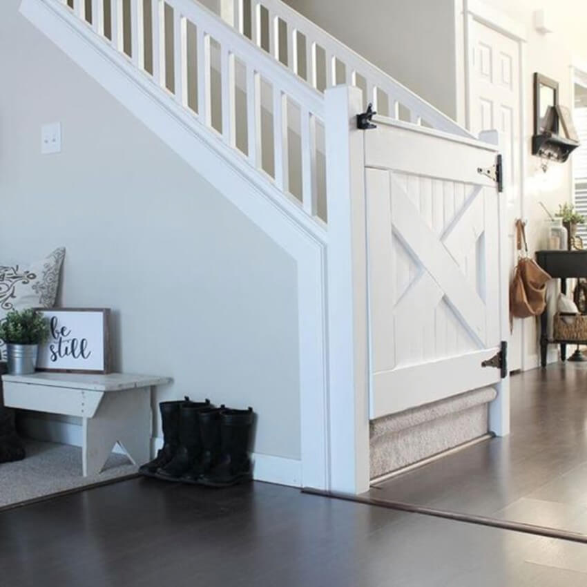 Baby gates are simple and won't get in the way of your decor.