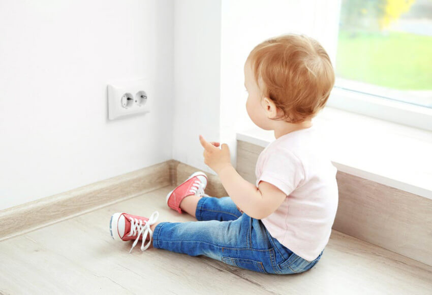 Unplug electrical appliances for extra safety.