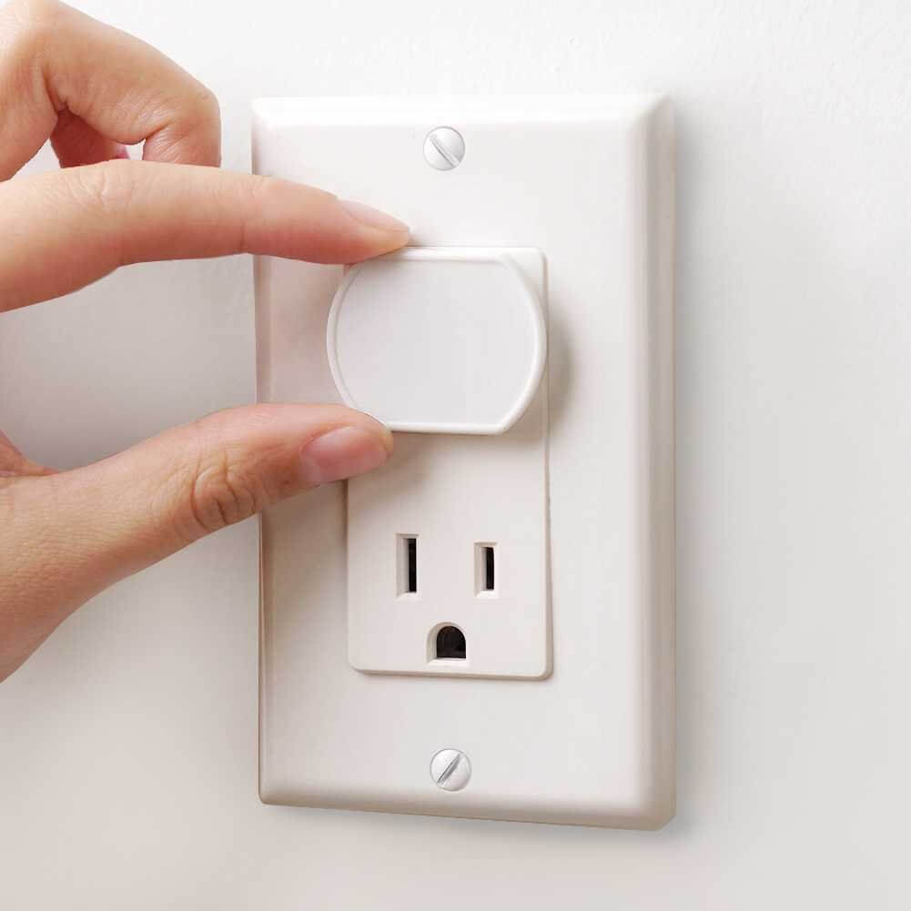 Here's how to baby-proof your power outlets