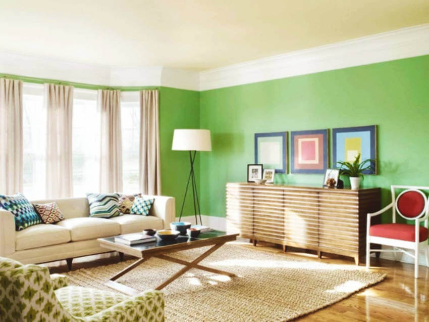 A high-quality paint makes all the difference when painting a room!