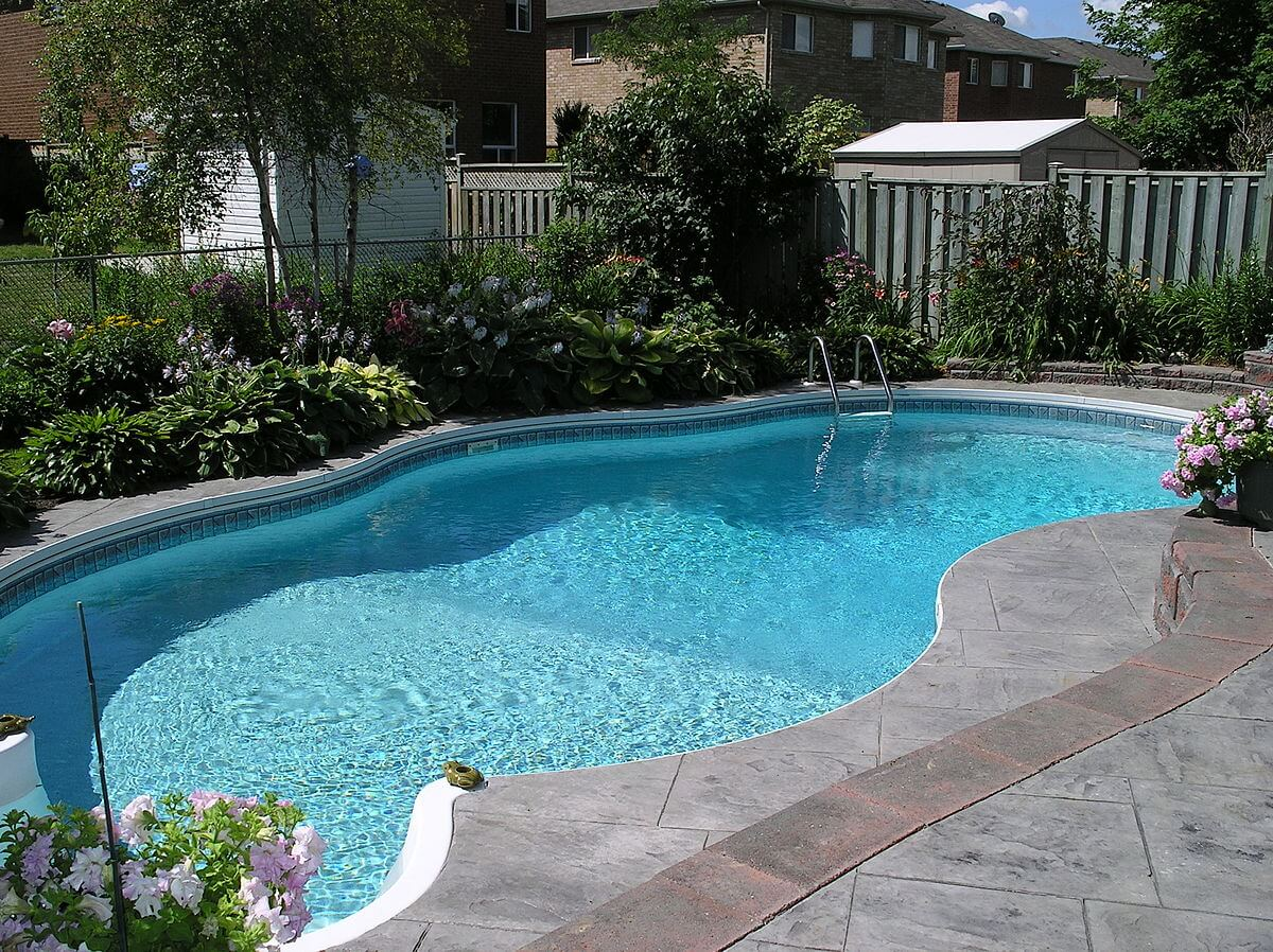 Look at how great the in-ground pool looks