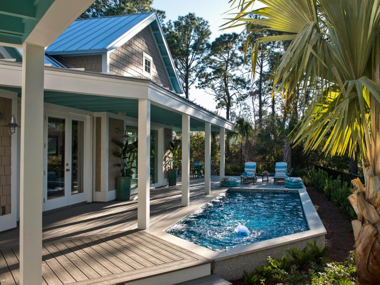 Go for a relaxing dip in your backyard.