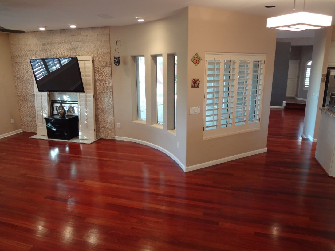 Polishing your hardwood flooring can really make a difference.