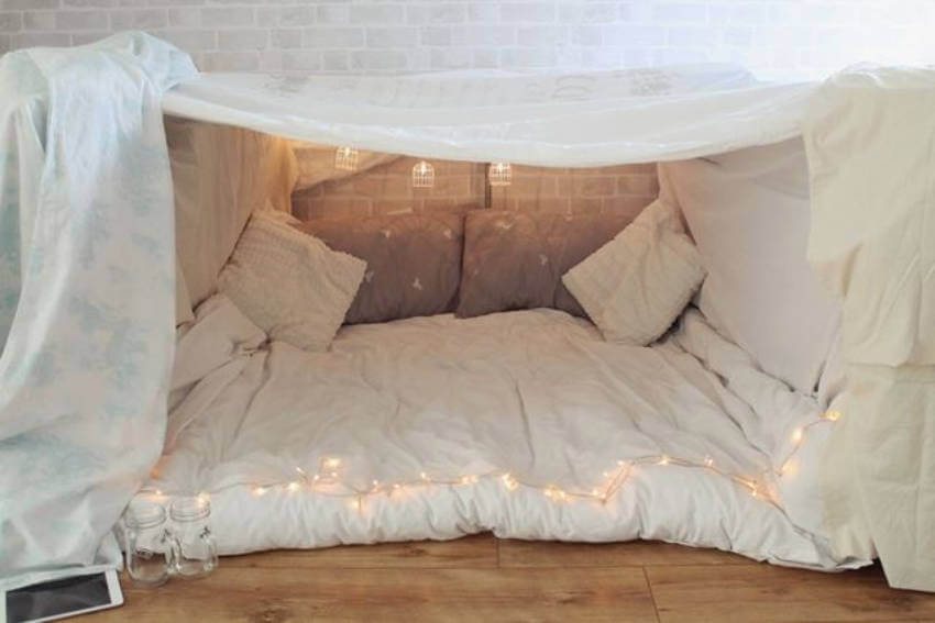 You could build a fort for the kids, and one for the adults too!