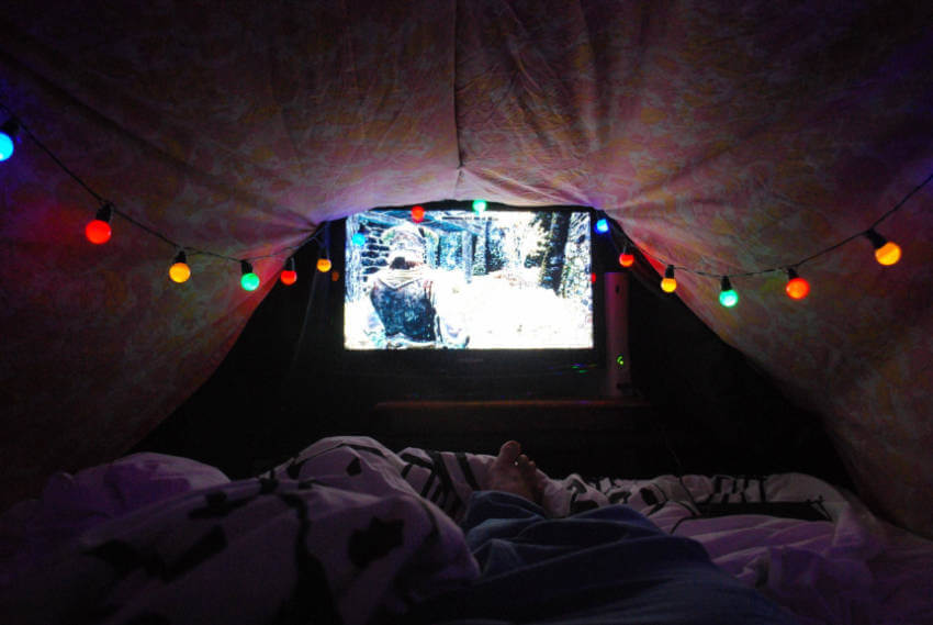 If you're going for an all-nighter, a TV can be a good idea!