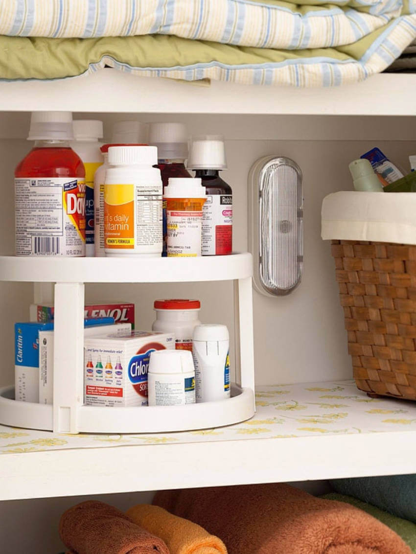 It's important to take away any expired products and medicines!