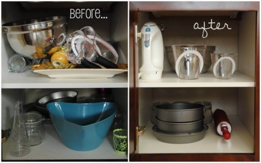 Save space by getting rid of items you don't use anymore!