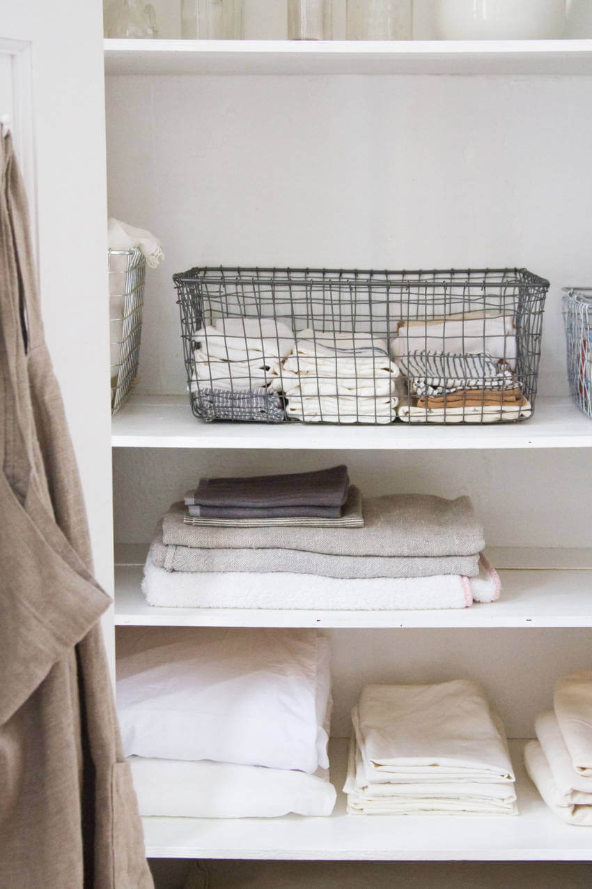 Organize your bedding closet with this folding tutorial.