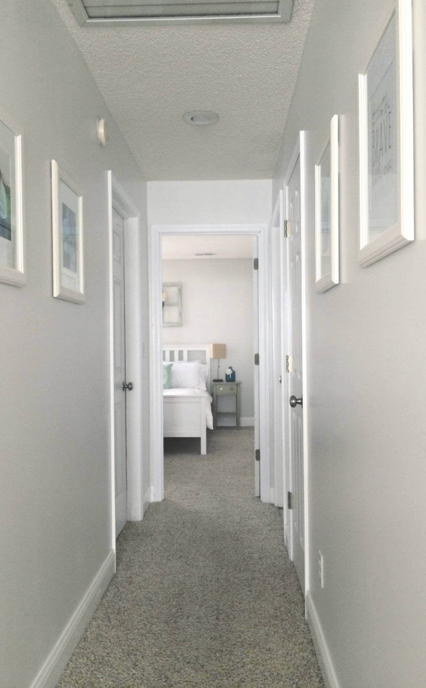 Bright hallway.