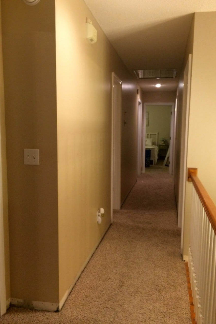 Dark hallway.