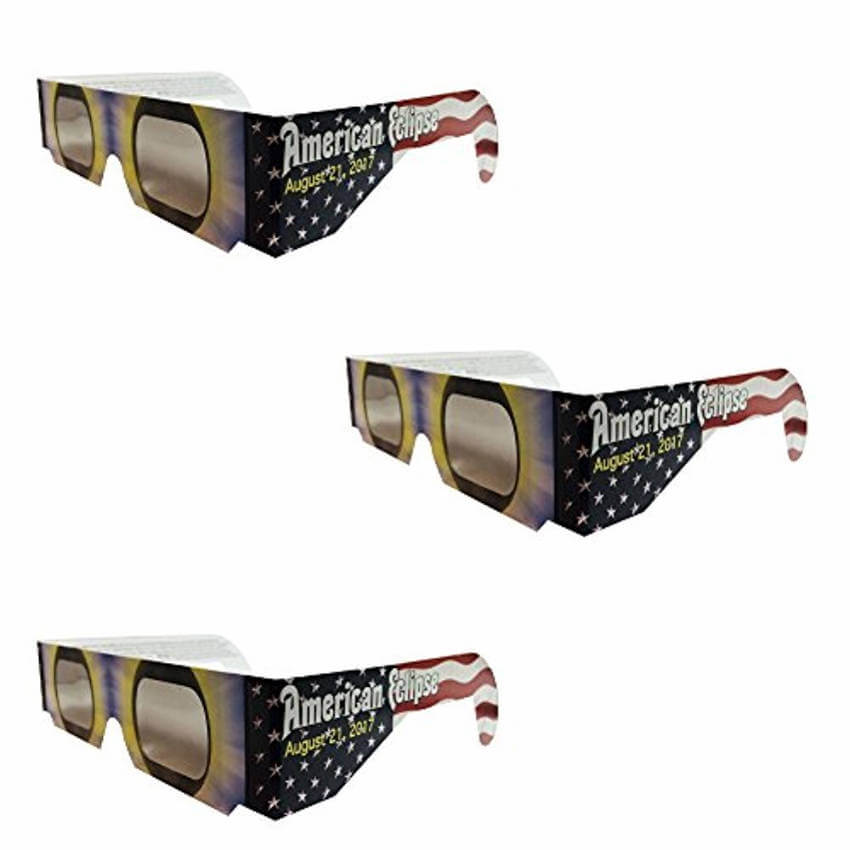 Eclipse glasses will protect your eyes while allowing you to see the fenomenon properly.
