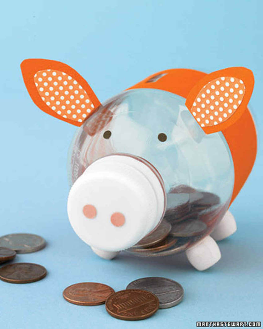 A piggy bank is super cute to have either for you or the kids!