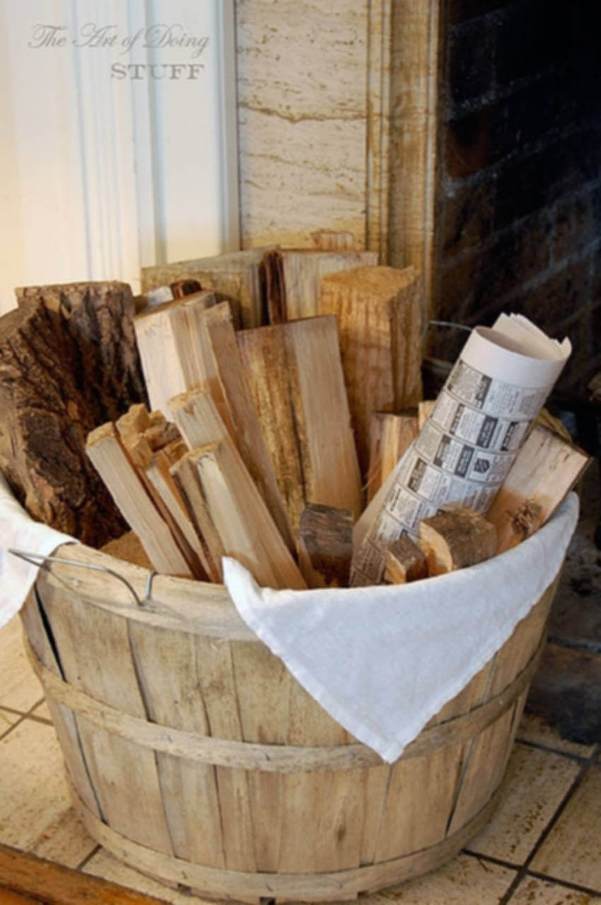 Keep logs and newspapers handy for your fire.
