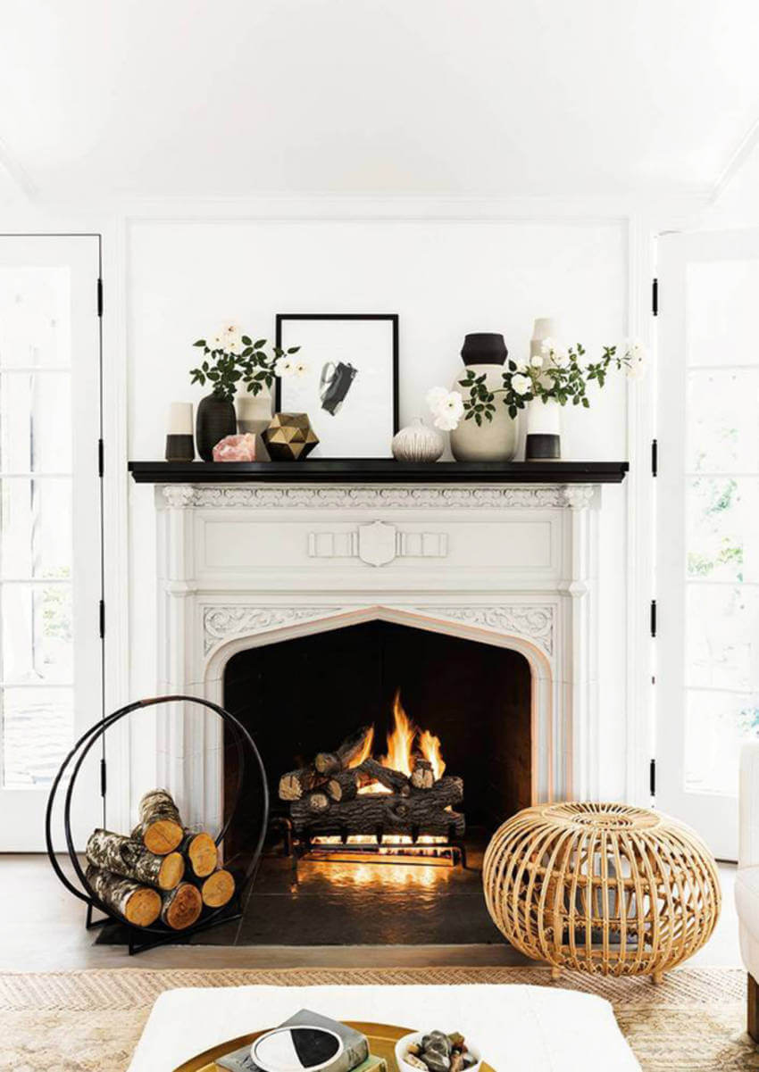 Find the best way to arrange logs in your own fireplace.