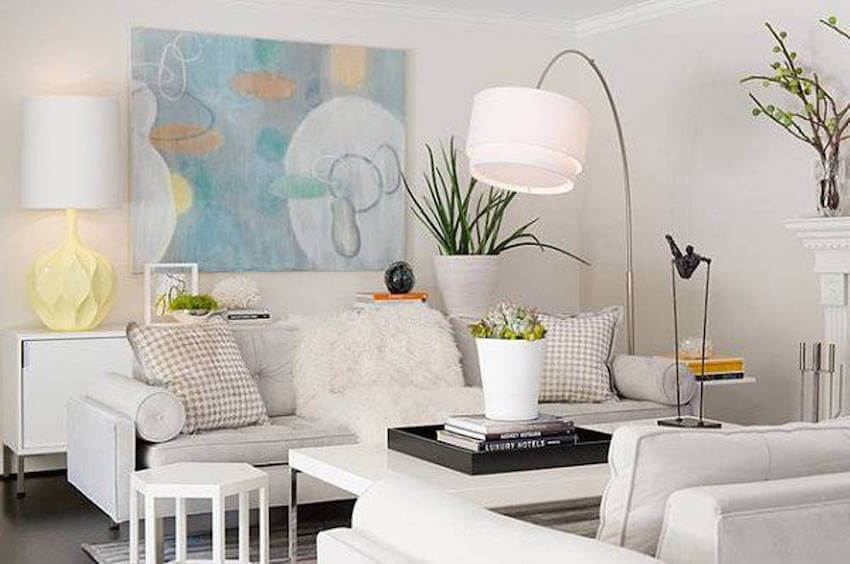 Use white to balance out your pastels.