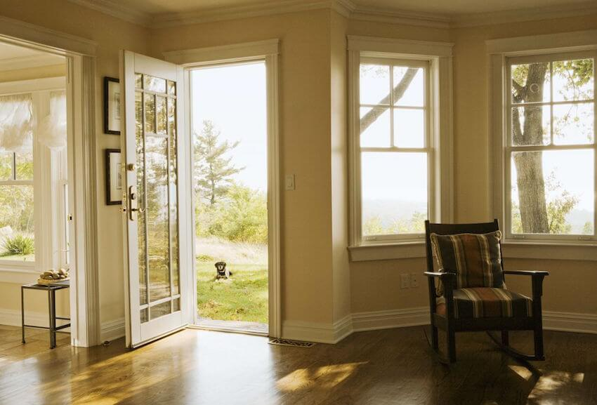 Sealed exterior front doors can help lower your monthly energy bills