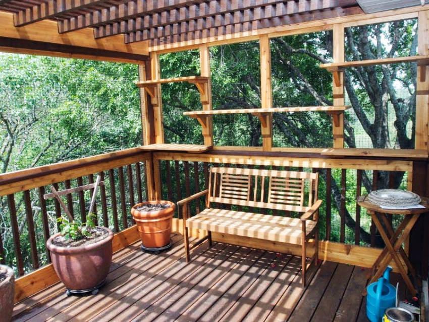 Make a simple change by adding chicken wire around your deck!