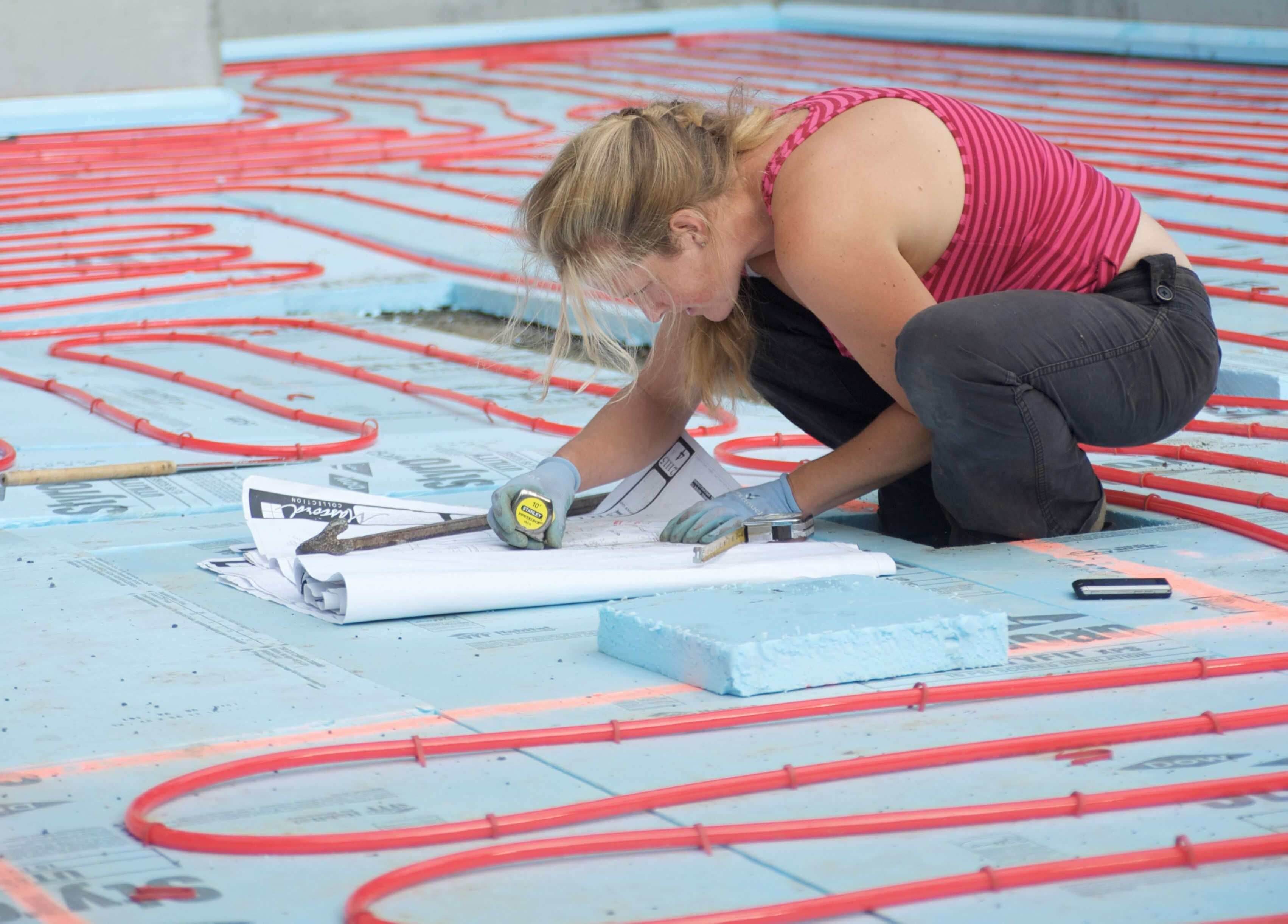You can install radiant heating into most flooring units