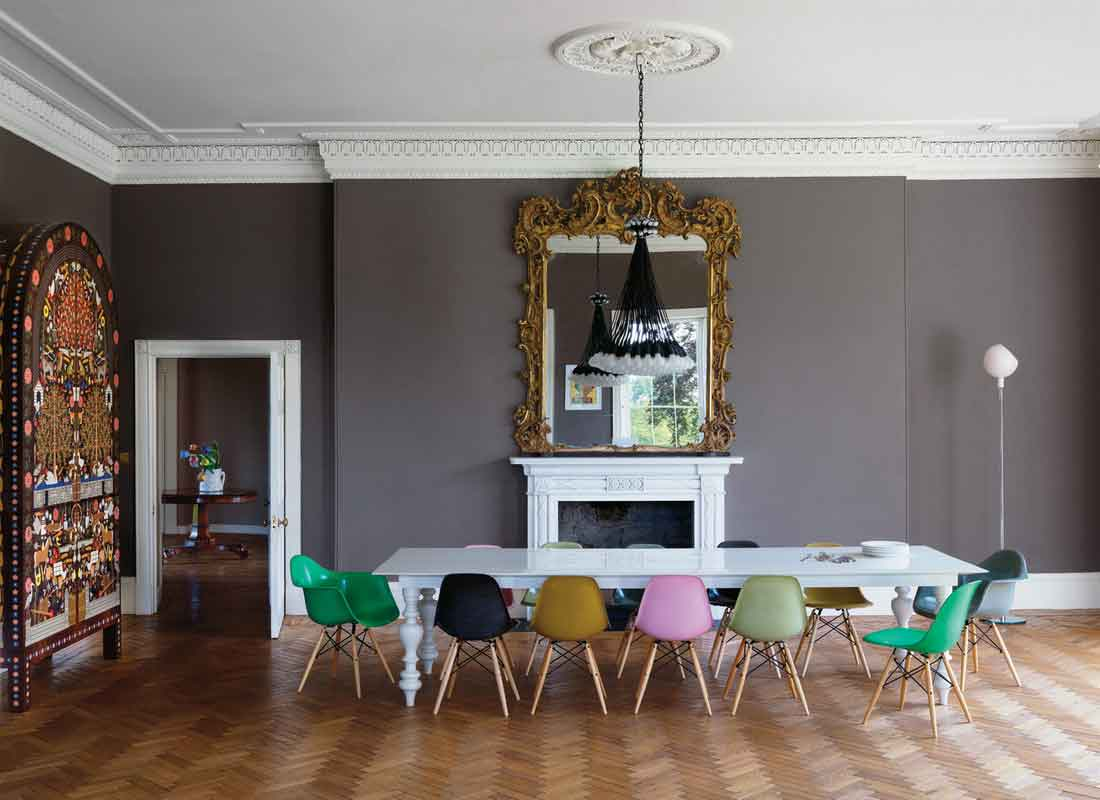 The colorful array of options in the dining room