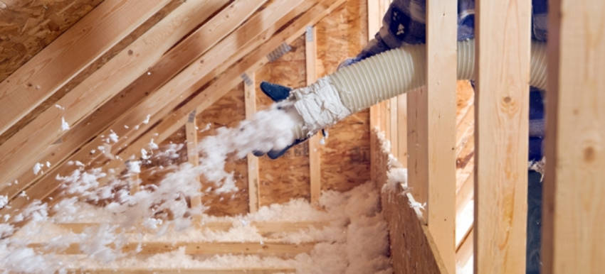 Cellulose insulation.