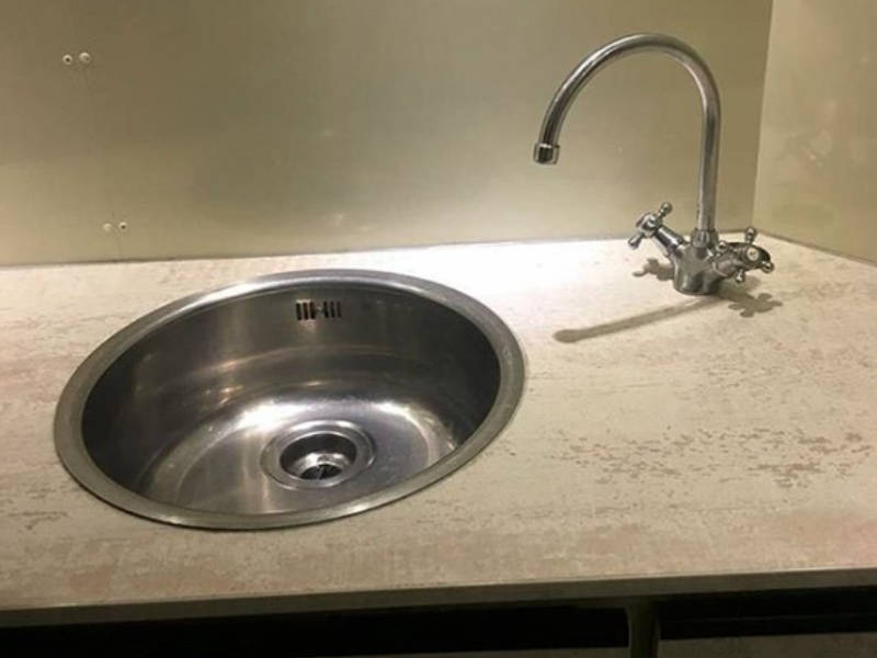 The saddest sink of all time.