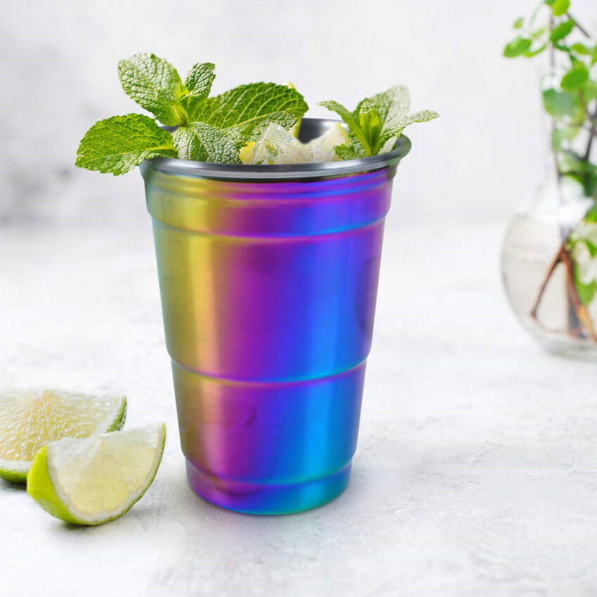 Iridescent party cup.