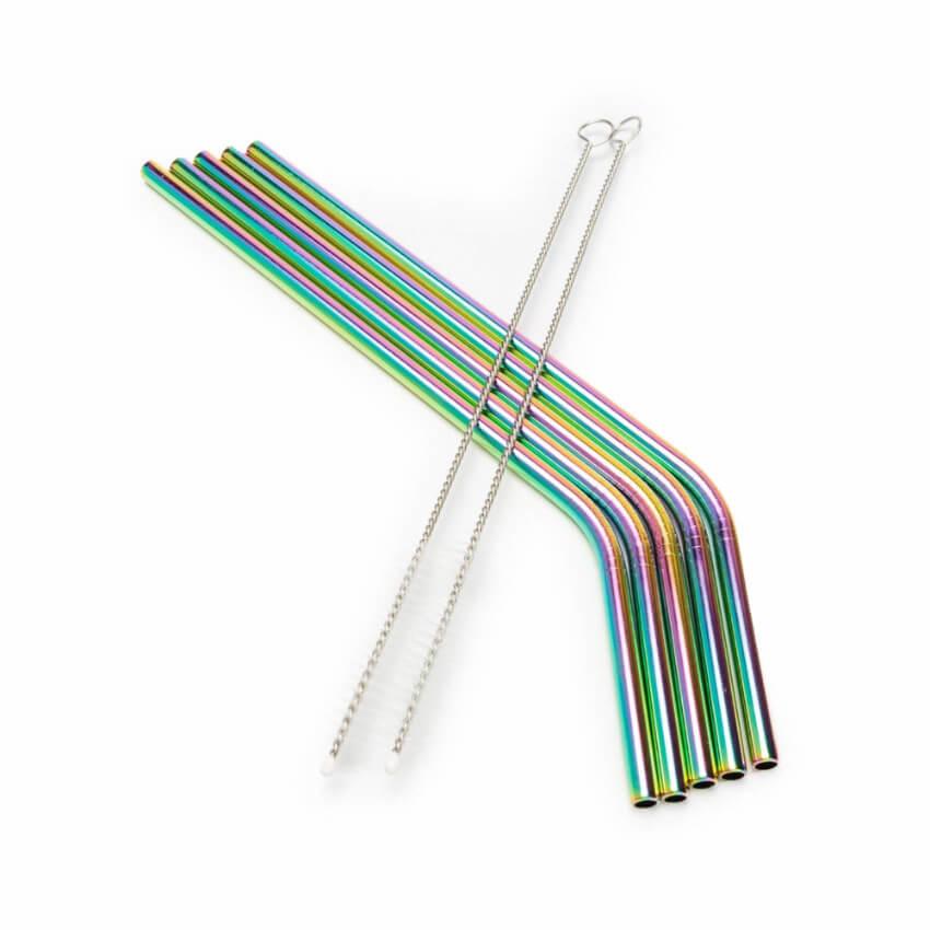 Iridescent eco-friendly straws.