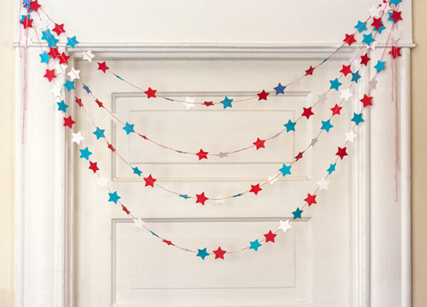 This star garland is pretty and patriotic!