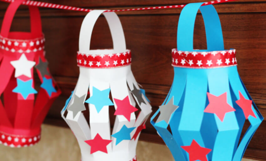 Paper lanterns are adorable and the kids can help you make them as well.