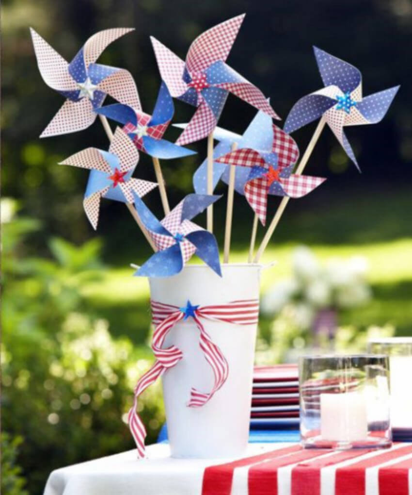 Paper pinwheels are simple and make a really cool decor idea.
