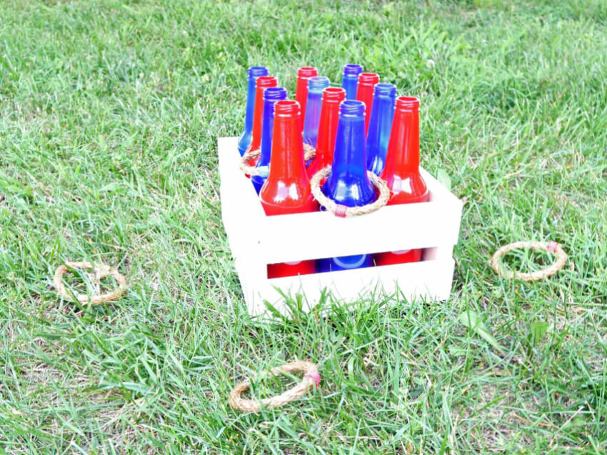 A ring toss is easy to maek and fun to play.