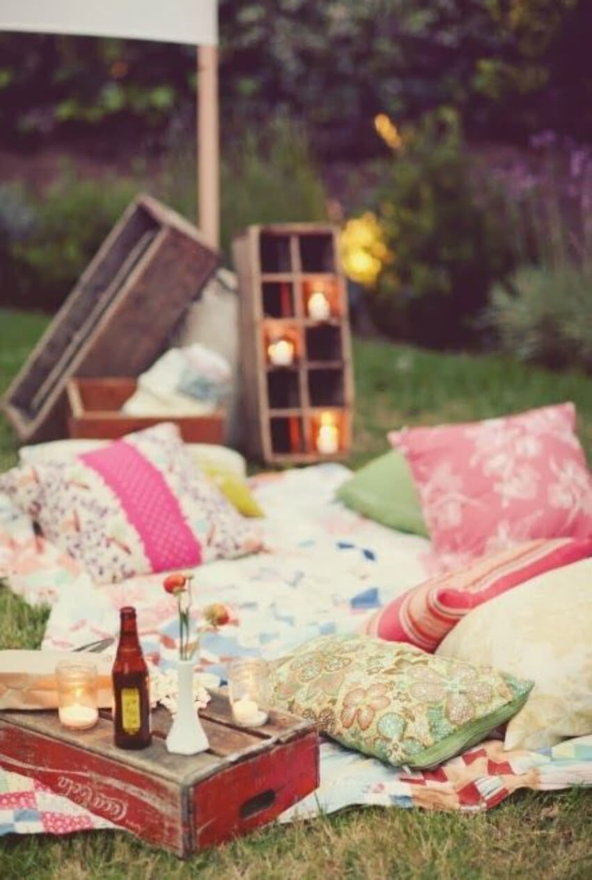 A clean yard can be the perfect place for a great picnic.