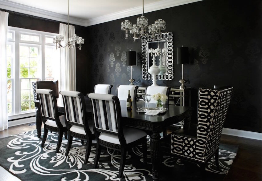 Interior design: Go for this look in your home by focusing on art deco and classic looks combined with a stellar pallet of black and white. Add texture and depth with different patterns and shades to make for a eye catching and classy room.